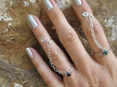 Slave ring chain set in size eight and a half by FayWestDesigns, $24.00