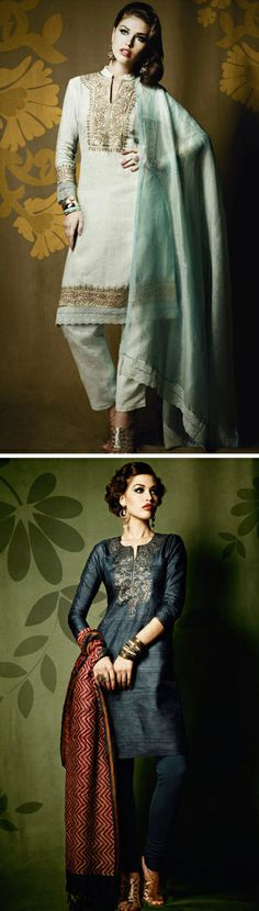 Commonly found in Pakistan, and countries in south asia, the Kurta is a long loose tunic. It's designed to help beat the heat. They can be incredibly ornate, or they can be minimalist. However they are always a beautiful and flattering cut.