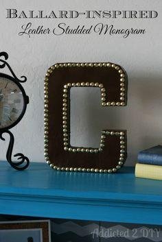 Ballard-Inspired Leather Studded Monogram {My Crafty Spot Contributor Post}