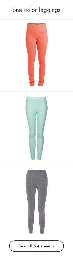 """""""one color leggings"""" by lulucosby ❤ liked on Polyvore featuring pants, leggings, bottoms, jeans, clear coral, high waisted leggings, red leggings, red pants, high waist zipper leggings and high-waisted leggings"""