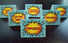 Super Hero Comic Book Food Labels (Set of 12) on Etsy, $12.00