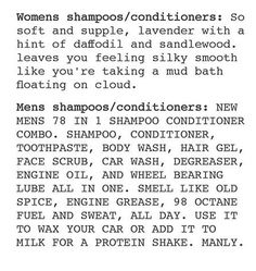 icry, i prefer the scents from women's shampoo anyway, it smells less like a chemical lab