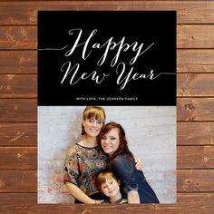 2015 Happy New Years Happy Family Photo Card - New Years Card, Family Photo  #2015 #new #year #card