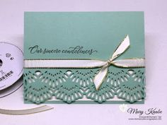 My Product of the Week - Delicate Lace Edgelits - Take your card bases from plain to fancy using the new Delicate Lace Edgelits from Stampin' Up! Cool Cards, Diy Cards, Birthday Cards, Birthday Quotes, Birthday Greetings, Happy Birthday, Birthday Images, Birthday Wishes, Spellbinders Cards