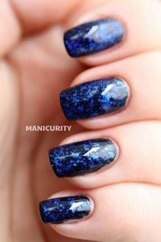 Manicurity: MSMD: Revlon Royal + Sally Hansen Glass Slipper Sammie