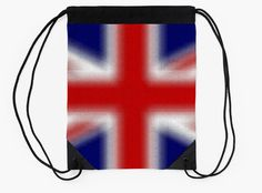 """UNITED KINGDOM"" Drawstring Bags by bubbliciousart 
