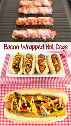 Bacon Wrapped Hot Dogs!!!  www.joyineveryseason.com