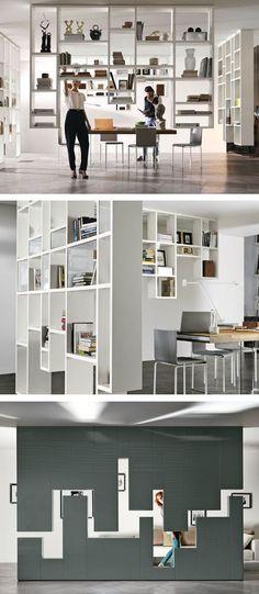 Divider wall-mounted storage wall 30mm / LAGOLINEA WEIGHTLESS by Lago | #design Daniele Lago @lagofurniture
