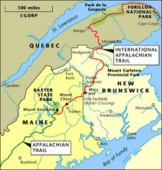 Appalachian Trail In Maine Map.29 Best Trails International Appalachian Images Appalachian