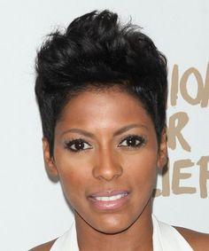 Tamron Hall Short Straight Hairstyle.