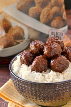 Slow Cooker Cocktail Meatballs - Mom On Timeout