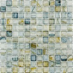 Elida Ceramica�Celestial Blue Glass Mosaic Square Indoor/Outdoor Wall Tile (Common: 12-in x 12-in; Actual: 11.75-in x 11.75-in)
