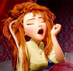 This is how most people are in the morning. Disney finally got it right. Anna Disney, Princesa Disney Frozen, Disney Princess Frozen, Disney Princess Pictures, Princess Merida, Cartoon Gifs, Cute Cartoon Wallpapers, Animated Movie Posters, Animiertes Gif
