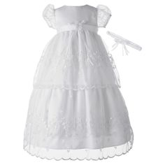 Have to have it. Kourtney Baptism Dress with Headband - $49.86 @hayneedle