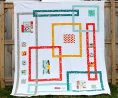 Kelly Bowser of kelbysews is a talented quilt designer and sewist. She was inspired to make this Interlock quilt when she saw the new organic Birch Fabrics Charley Harper designs, and now you can make the quilt too! Charley Harper, Sew Mama Sew, Modern Quilt Patterns, Quilt Patterns Free, Modern Quilting, Sewing Patterns, Quilting Tutorials, Quilting Designs, Quilt Design
