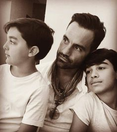 Father and Sons. Adorable. Caption to this said: Last Call #son #father #summer #instapic  Let me know in the Comment Section what that means please!