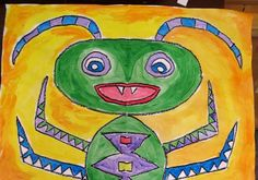"""I created """"Big Bugs"""" with children of all ages at the OKCMOA recently for Drop-in Art . We focused on symmetry, line and pattern. First w..."""