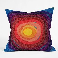 Raven Jumpo Tie Die Madness Throw Pillow | DENY Designs Home Accessories