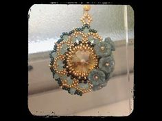 [ Beadwork ] Incastonatura con le rulla - Pietra da 30 mm - Bezeling with rulla - YouTube