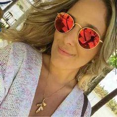 Óculos Ray Ban Round Prata Espelhado Metal Redondo Rb3447 - R$ 59,96