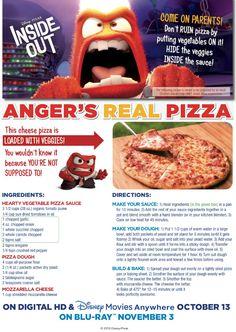 Disney Inside Out Hidden Veggies Pizza