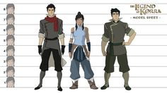 Legend of Korra : Model Sheet by samcote on DeviantArt