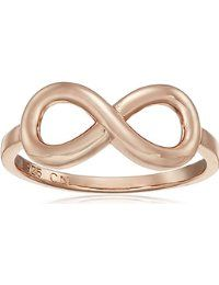 Gold Flashed or Rhodium Plated Sterling Silver Infinity Ring $6.82 - $19.64 Prime 4.6 out of 5 stars 27