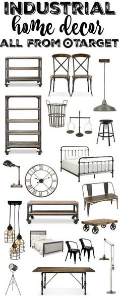 Industrial Furniture & Home Decor From Target #industrialfurniture