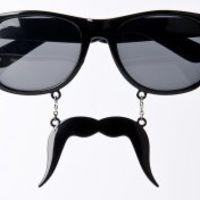 "sun glasses. Would love to stay but I really Mustache"" ;)"