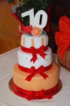 Happy 70th Birthday Cake | MakeUrCake