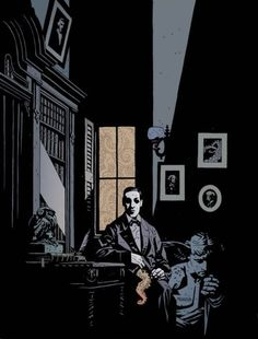 H P Lovecraft by Mike Mignola