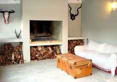 Mooi aards by Bloemendal Guest Cottage. Indoor Bbq, Built In Braai, Brick Bbq, Outside Room, Self Catering Cottages, Home Fireplace, Entertainment Room, Outdoor Living, Sweet Home