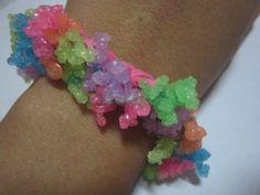 Corals of the Sea Rainbow Loom Bracelet by CuriositiesByLadyE