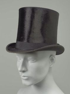 Top Hat 1897, American, Made of silk and leather
