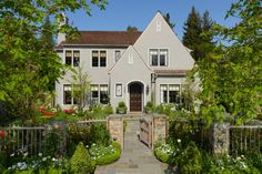 Love this front yard fence ~traditional exterior by FGY Architects