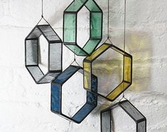 Stained Glass Elements set of 17 by BespokeGlassTile on Etsy