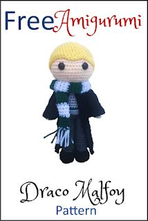 Free Draco Malfoy Amigurumi Pattern (crochet pattern) - lots of other free Amigrumi patterns including more Harry Potter characters! Pokemon Crochet Pattern, Crochet Amigurumi Free Patterns, Crochet Doll Pattern, Crochet Dolls, Mario Crochet, Crochet Daisy, Cute Crochet, Single Crochet, Draco Malfoy
