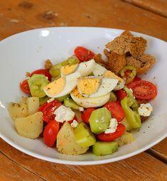 Καλώς Ήρθατε στις Κρητικές Γεύσεις | Παραδοσιακή Κρητική κουζίνα | Κρητικές συνταγές | Παραδοσιακές συνταγές | Γεύσεις από Κρήτη | Food Blogger Κρήτη | - www.kritikes-geuseis.gr Cobb Salad, Food, Essen, Meals, Yemek, Eten