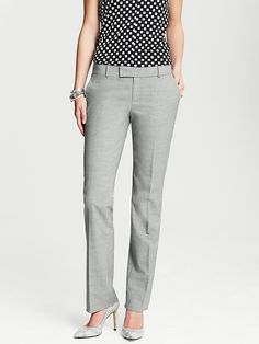 Banana Republic | Martin-Fit Grey Lightweight Wool Straight Leg