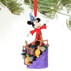 Hallmark 2018 Minnie Mouse Santa Hat Seated Gift Present Christmas Ornament New