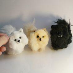 Needle felted pomeranian Miniature Dog Art by AmiraliFelt on Etsy