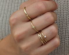 Check out our stackable rings selection for the very best in unique or custom, handmade pieces from our shops. Hand Jewelry, Fabric Jewelry, Cute Jewelry, Jewelry Rings, Jewelery, Jewelry Accessories, Fashion Accessories, Women Jewelry, Unique Jewelry