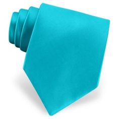 Men's Turquoise Solid Tie by Imani Uomo