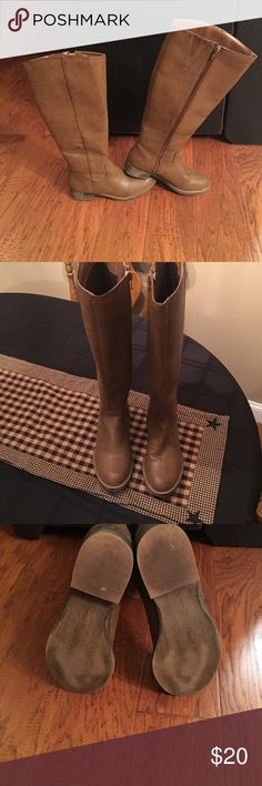 Shi by Journeys Cognac knee high boots Cognac color Knee high boots from Journeys. Worn once. Shi by JOURNEYS Shoes Heeled Boots