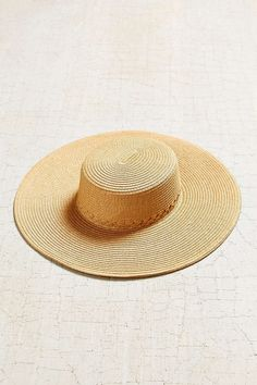 Braided Straw Oversized Boater Hat - Urban Outfitters