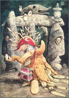 Rune Ansuz - brian froud | Brian Froud Eloquence [the Runes of Elfland]