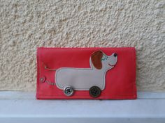 Dog Toy  Handmade leather tobacco pouch by MariasHappyThoughts
