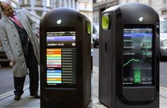 New Network on the Streets of London Broadcasts News to City Workers via Recycling Bins