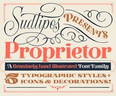 """Check out this @Behance project: """"Proprietor —Type Family"""" https://www.behance.net/gallery/56442845/Proprietor-Type-Family"""