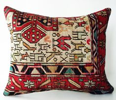 Turkish Silk Sumak Kilim Pillow Cover